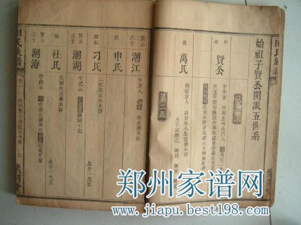 河南温县田氏族谱序 河南汜水一支图片
